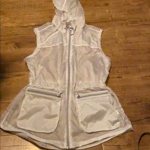 Athleta Clear Hooded Vest
